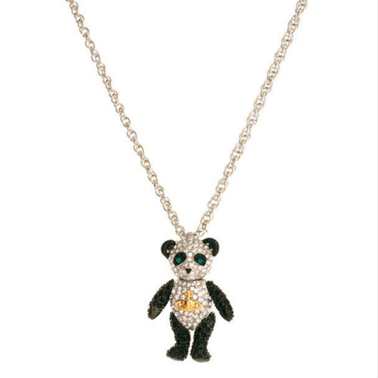 Seven Season Crystal Panda Pendant Necklace