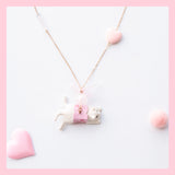 Seven Season Cute and Cuter Purrfection Cat in Soft Drinks Pendant Necklace