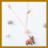 Cute and Cuter Vivacious Fox Pendant Necklace