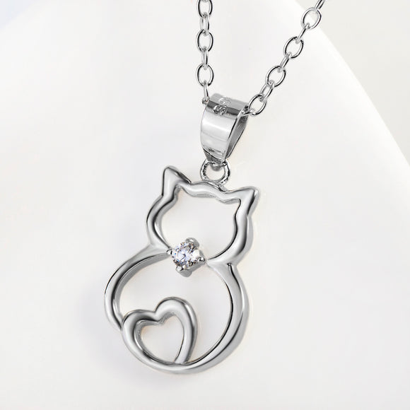 Seven Season Cutie Cat Chubby Cat Pendant Necklace