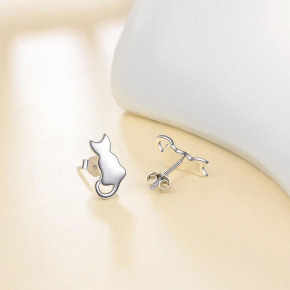Seven Season Cutie Cat Tiny Cat Stud Earrings