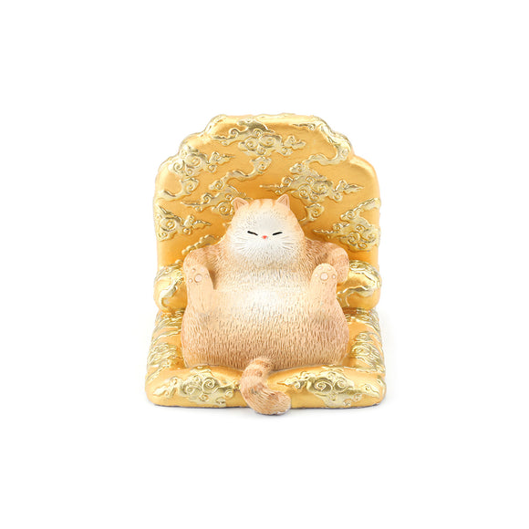Seven Season Forbidden City Royal Cat Sitting in Dragon Throne Smart Phone Stand