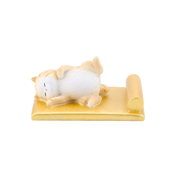Seven Season Forbidden City Royal Cat Sleeping in Imperial Bed Smart Phone Stand