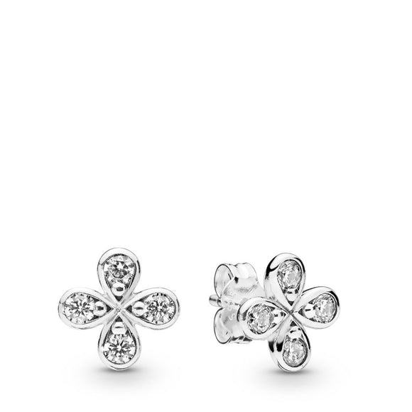 Seven Season Four-Petal Flower Stud Earrings Pandora
