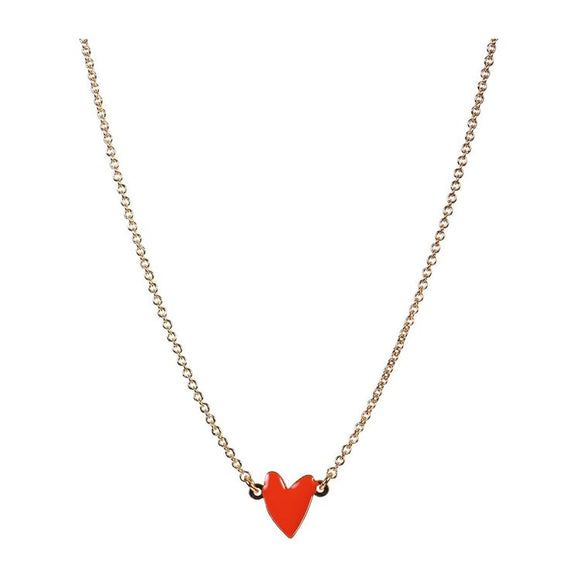 Seven Season Grant Poppy Red Heart Necklace