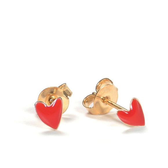 Seven Season Grant Poppy Red Heart Stud Earrings