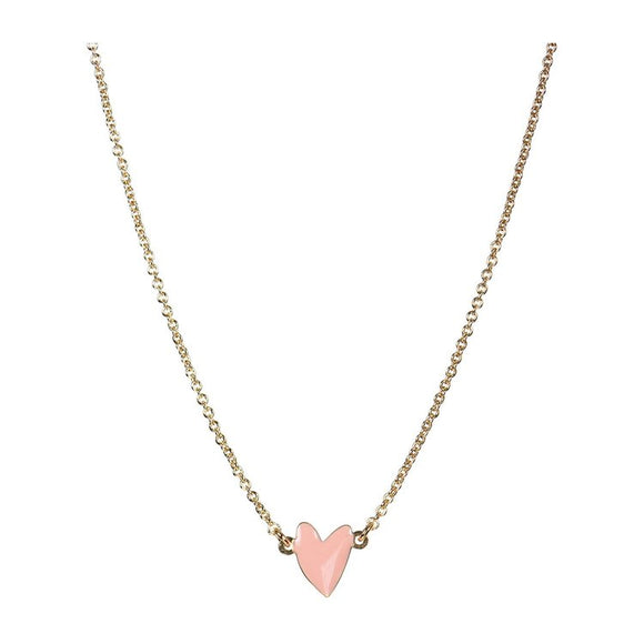 Seven Season Grant Rose Poudre Heart Necklace