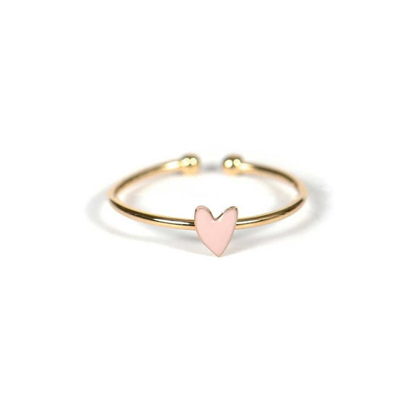 Seven Season Grant Rose Poudre Heart Ring