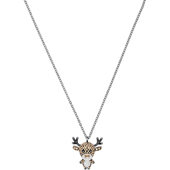 Seven Season Little Deer Multi-Colored Mixed Plating Pendant Necklace Swarovski
