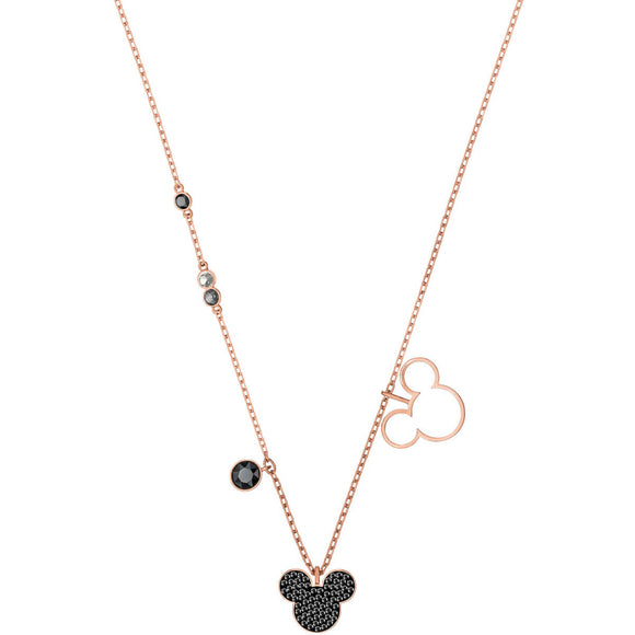 Seven Season Mickey Multi-Colored Rose Gold Plating Pendant Necklace Swarovski
