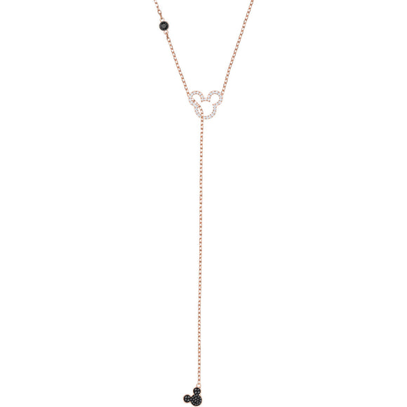 Seven Season Mickey Multi-Colored Rose Gold Plating Y Necklace Swarovski
