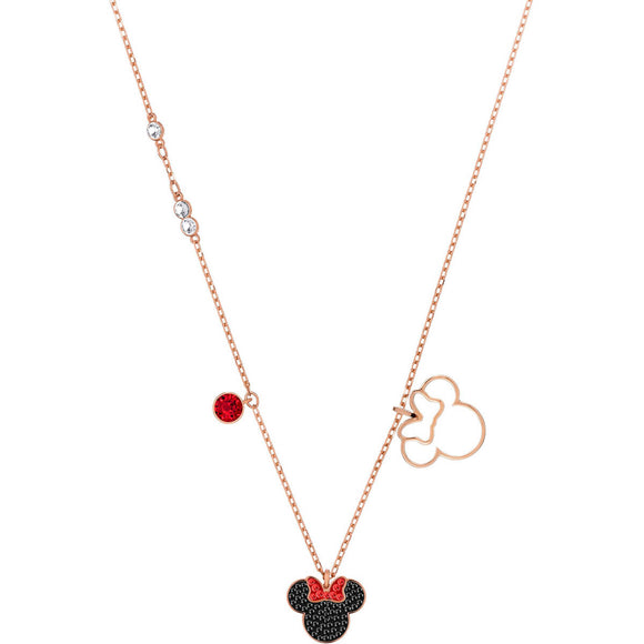 Seven Season Minnie Multi-Colored Rose Gold Plating Pendant Necklace Swarovski