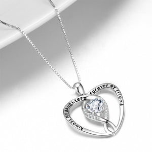 Seven Season Mom's Love Always My Daughter Forever My Friend Heat Pendant Necklace
