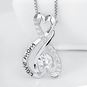 Seven Season Mom's Love Infinity Heart Love Mom Pendant Necklace