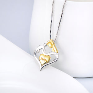 Seven Season Mom's Love Lifting Baby Heart Pendant Necklace