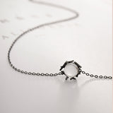Seven Season Nested Crystal Silver Pendant Necklace