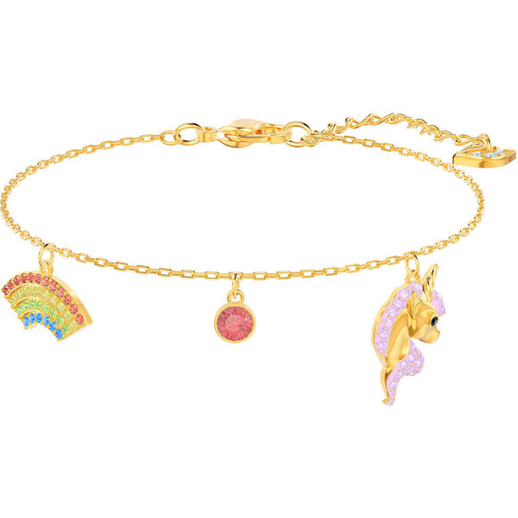 Seven Season Out of this World Unicorn Multi-Colored Gold Plating Bracelet Swarovski