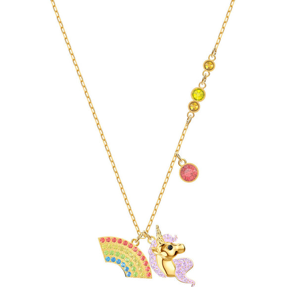 Seven Season Out of this World Unicorn Multi-Colored Gold Plating Necklace Swarovski