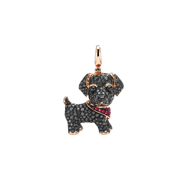 Seven Season Puppy Wang Wang Labrador Eve Pendant Necklace