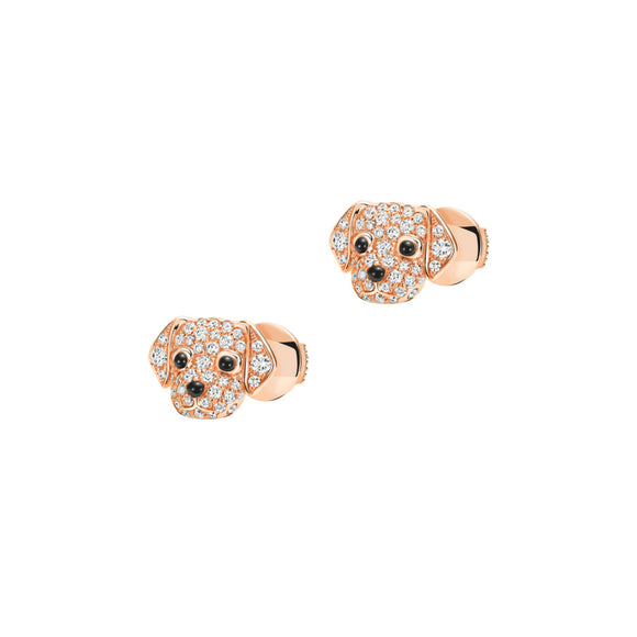 Seven Season Puppy Wang Wang Petite Golden Retriever Bella Stud Earrings