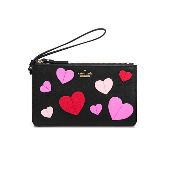 Seven Season Secret Admirer Applique Heart Slim Bee Wristlets
