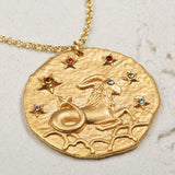 Seven Season Selection Constellation Capricorn Zodiac Sign Pendant Necklace