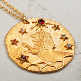 Seven Season Selection Constellation Leo Zodiac Sign Pendant Necklace