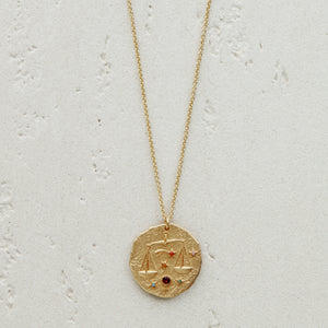 Constellation Libra Zodiac Sign Pendant Necklace