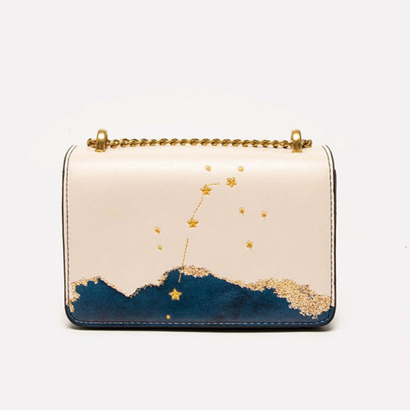 Seven Season Selection Zodiac Aries Embroidery Crossbody Bag