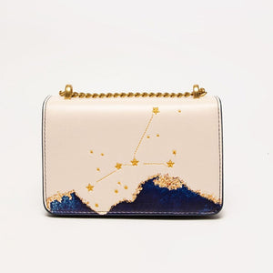 Seven Season Selection Zodiac Cancer Embroidery Crossbody Bag