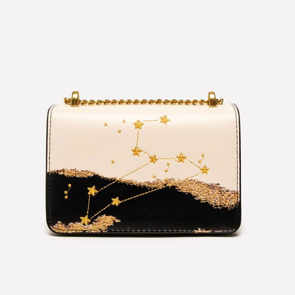 Seven Season Selection Zodiac Leo Embroidery Crossbody Bag