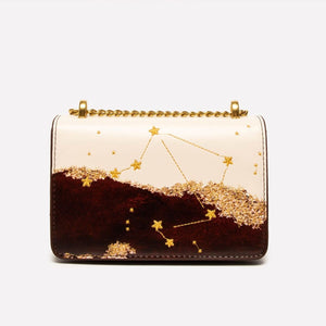 Seven Season Selection Zodiac Libra Embroidery Crossbody Bag