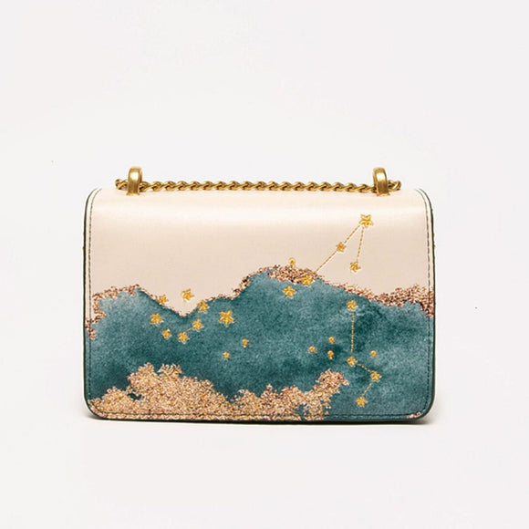 Seven Season Selection Zodiac Pisces Embroidery Crossbody Bag