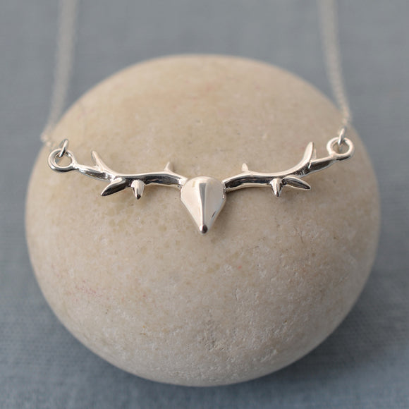 Seven Season Silver Stag Chain Necklace