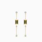 Seven Season Sleeping Castle Aurora Thread Spindle Chain Earrings HEFANG Jewelry