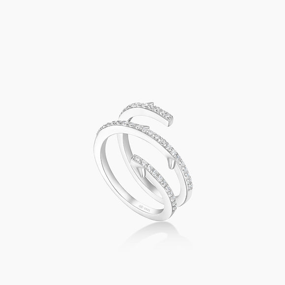 Seven Season Sleeping Castle Brambles Coil Ring HEFANG Jewelry