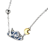 Seven Season Van Gogh Starry Night Silver Necklace