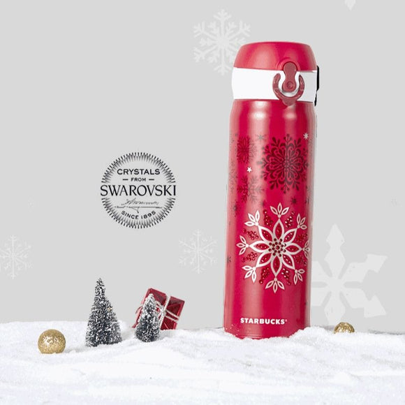 Starbucks x Swarovski x Thermos Christmas Limited Edition Crystal Snowflake Travel Mug-Seven Season
