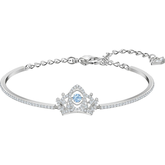 Swarovski Bee A Queen Blue Rhodium Plated Bangle-Seven Season