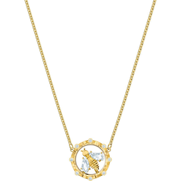 Swarovski Bee A Queen White Gold-Tone Plated Pendant Necklace-Seven Season