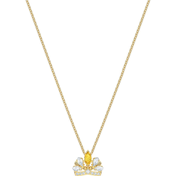 Swarovski Bee A Queen Yellow Gold-Tone Plated Pendant Necklace-Seven Season