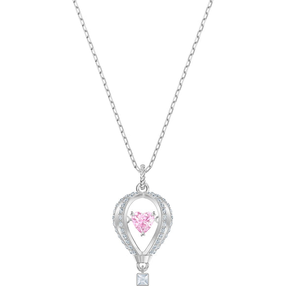 Swarovski Into the Sky Multi-Colored Rhodium Plated Pendant Necklace-Seven Season