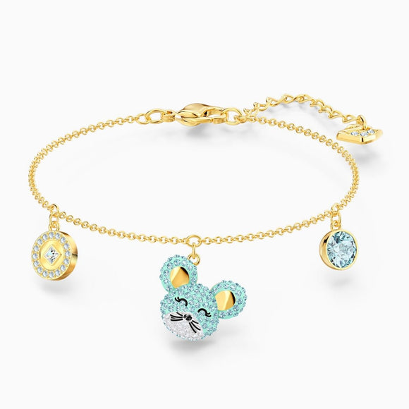 Swarovski Little Aqua Rat Mixed Metal Finish Bracelet -Seven Season