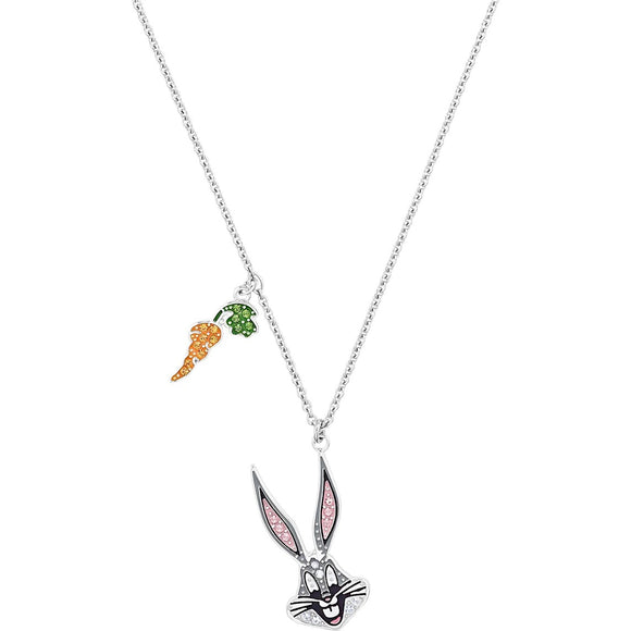 Swarovski Loney Tunes Bugs Bunny Multi-Colored Rhodium Plated Pendant Necklace-Seven Season