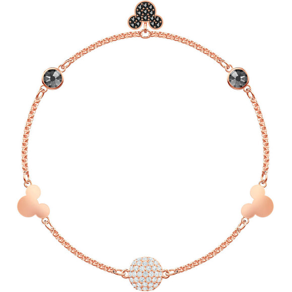 Swarovski Mickey Strand Multi-Colored Rose Gold Plating Bracelet -Seven Season