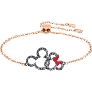 Swarovski Mickey and Minnie Multi-Colored Mixed Metal Finish Bracelet-Seven Season