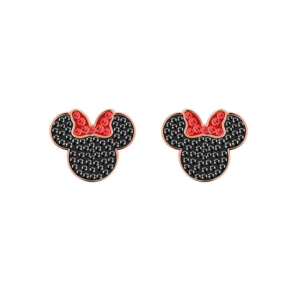 Swarovski Minnie Black Rose Gold Plating Pierced Earrings - Seven Season