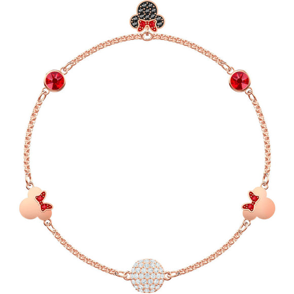 Swarovski Minnie Strand Multi-Colored Rose Gold Plating Bracelet -Seven Season