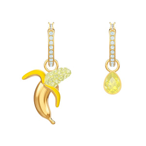 Swarovski No Regrets Banana Multi-Colored Gold Plating Pierced Earrings-Seven Season
