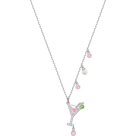 Swarovski No Regrets Cocktail Multi-Colored Rhodium Plating Pendant Necklace-Seven Season